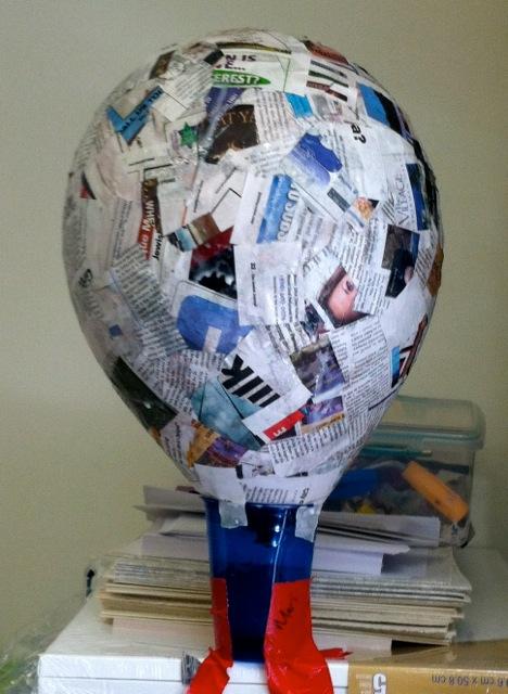 how to make a tissue hot air balloon