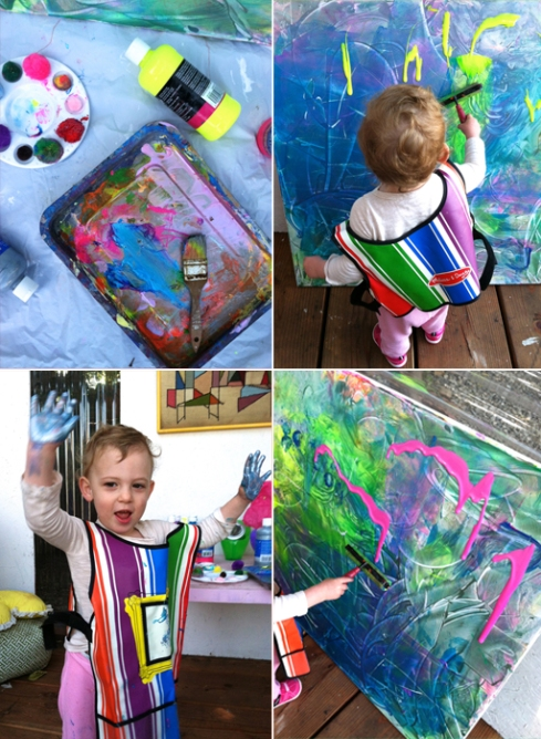 Evolving Canvas Painting for Toddlers