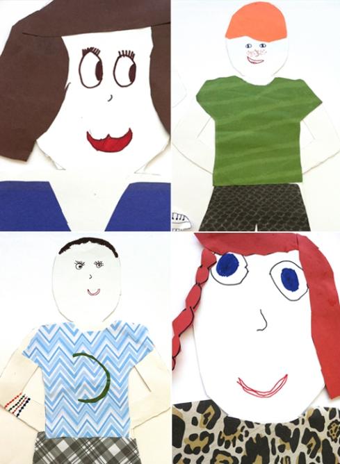self portrait doll cut outs second grade