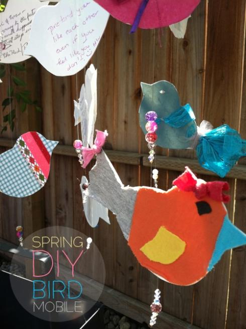 springtime diy bird mobile