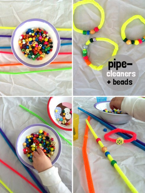 pipe cleaners and beads for toddlers