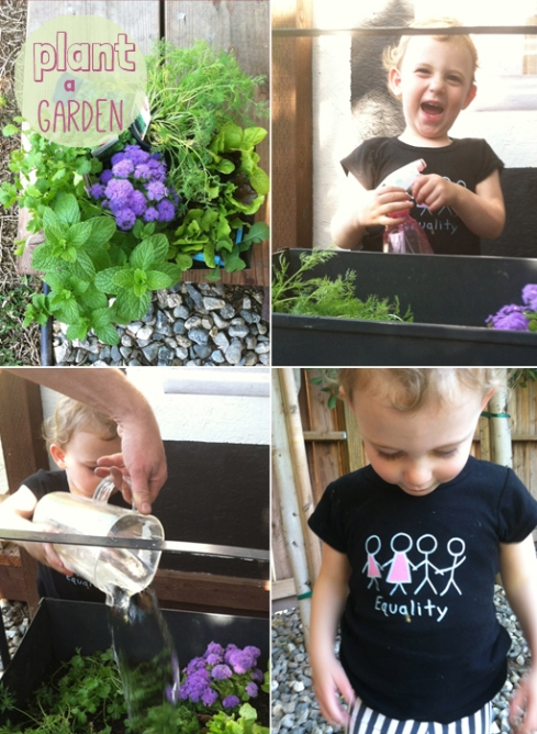 plant a garden with your toddler