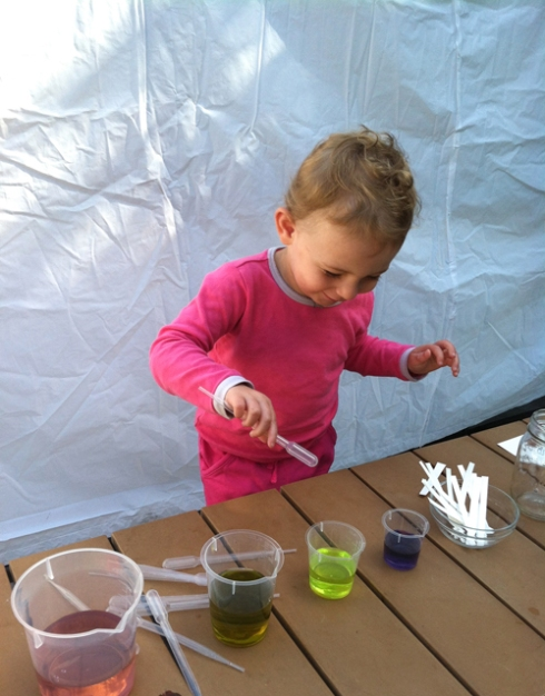 science for toddlers - invitation to play