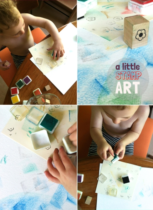 stamp art for toddlers