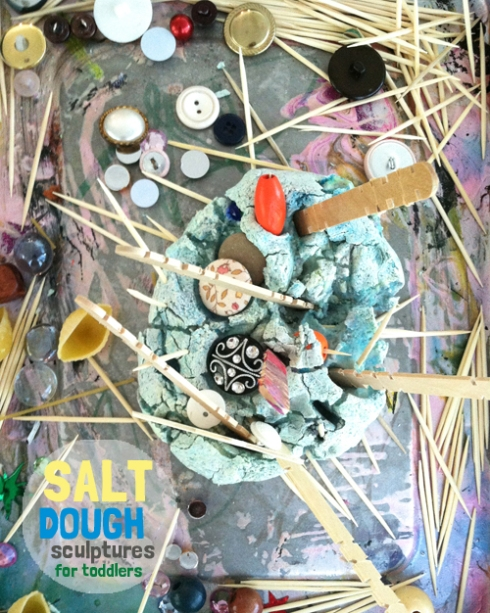 salt dough sculptures with toddlers