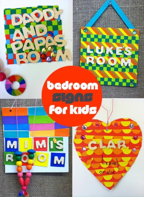 DIY Washi Tape Bedroom Door Signs for Kids