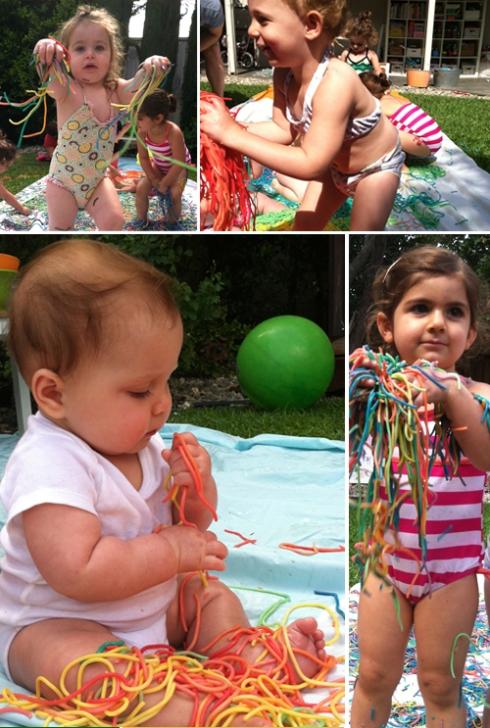 Rainbow Spaghetti Play Group
