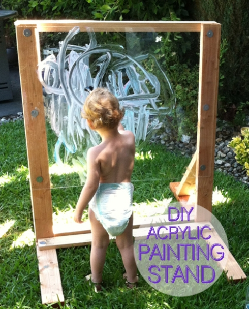 DIY Acrylic Painting Stand for Toddlers
