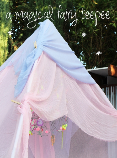 a magical fairy teepee