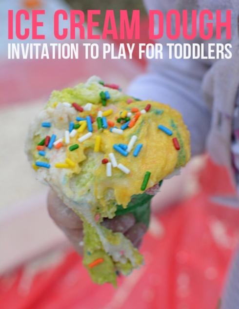 ice cream dough - invitation to play