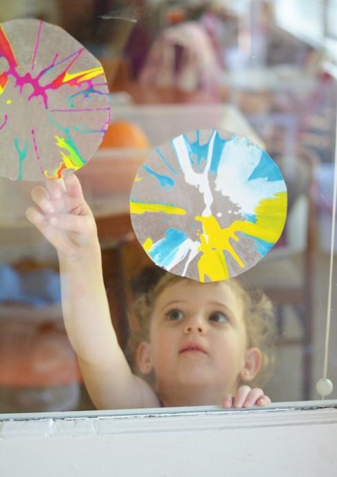 Spin Art Sun Catchers