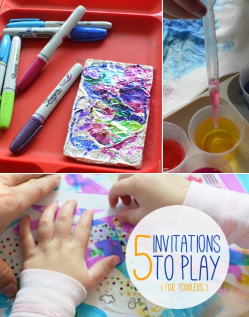 5 Invitations to Play for Toddlers