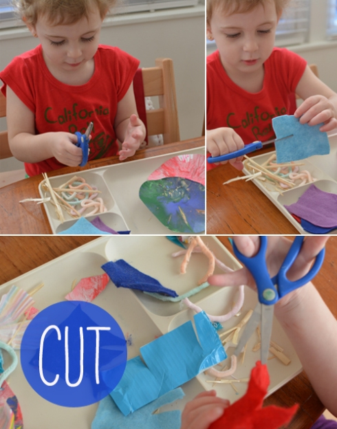 Cutting Station - Invitation to Play for Toddlers