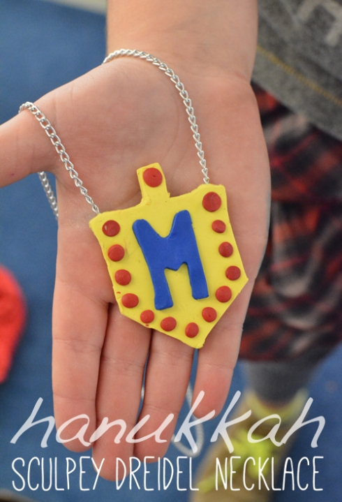 Sculpey Hanukkah Dreidel Necklaces