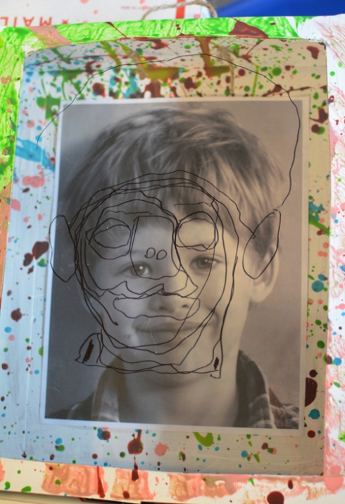 Reggio Inspired Self Portrait Shadow Boxes