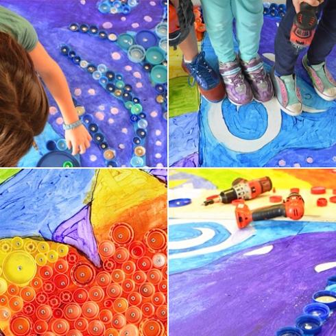 bottlecap mural art on instagram