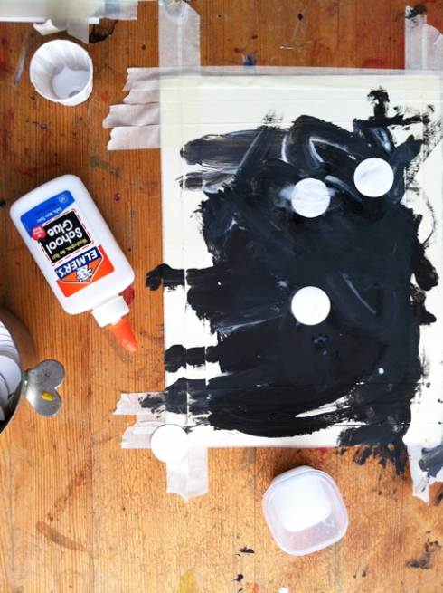 Black and white process art for toddlers