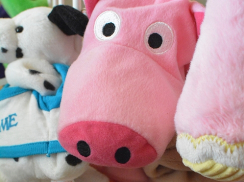 Recycled Stuffed Animal Catch All Bin