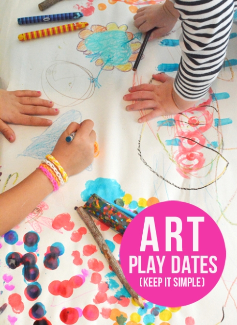 Hosting Art Play Dates for Kids of All Ages - Lesson 1 - Keep it simple