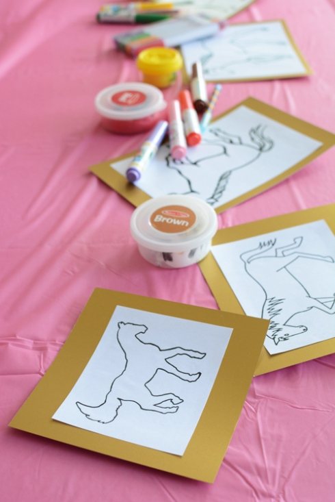 Horse and Pony Birthday Party Activity for 3 Year Olds