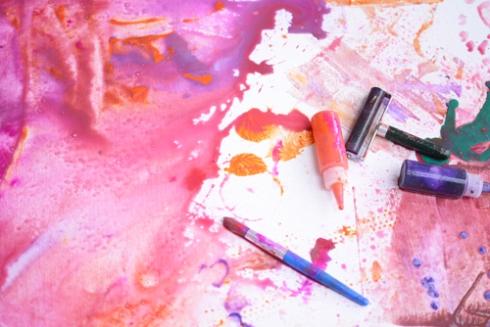 Pink Process Art - Reggio Inspired Play Dates