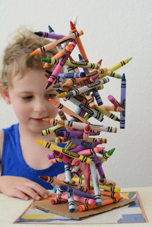 Crayon Art Sculpture