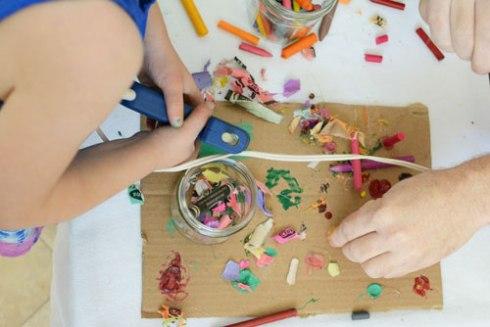 Collaborative Family Crayon Art