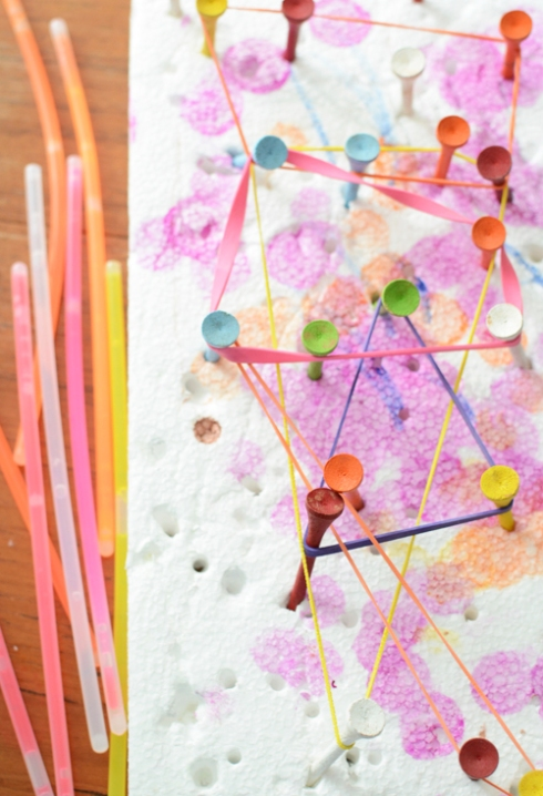 make your own geoboard for toddlers