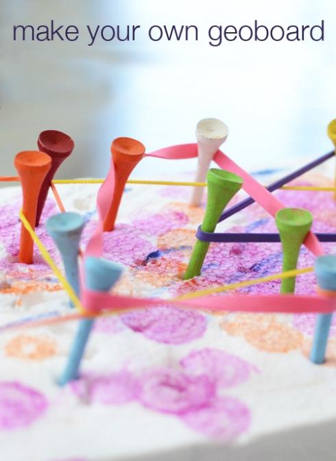 Make your own geoboard for kids - meri  cherry blog