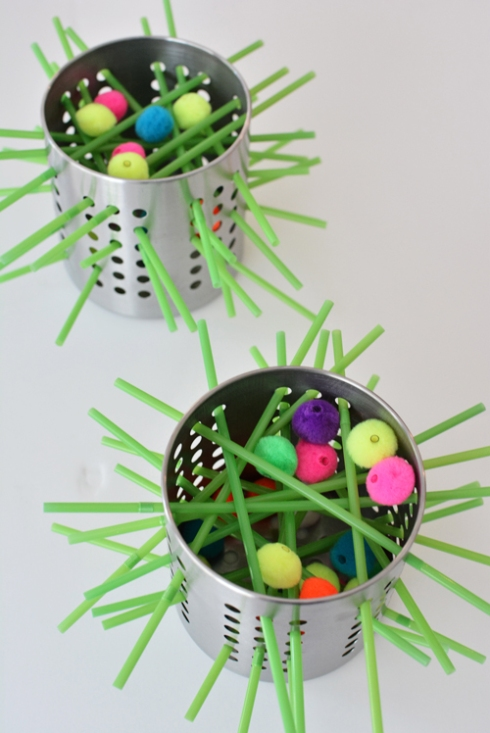 Make your own kerplunk game for kids