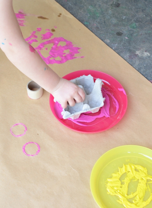 Painting with Recyclables - Painting Activity for Toddlers
