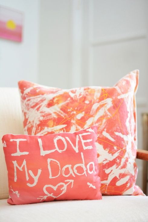 fabric resist art activity for kids - how to make a resist art pillow