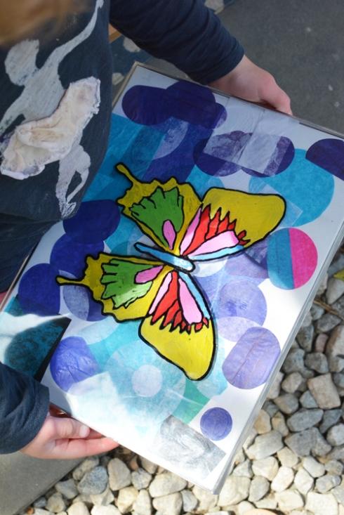 Reggio Inspired Butterfly Art for kids