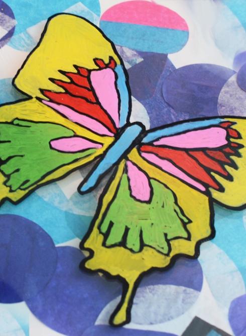 Reggion Inspired butterfly art for kids